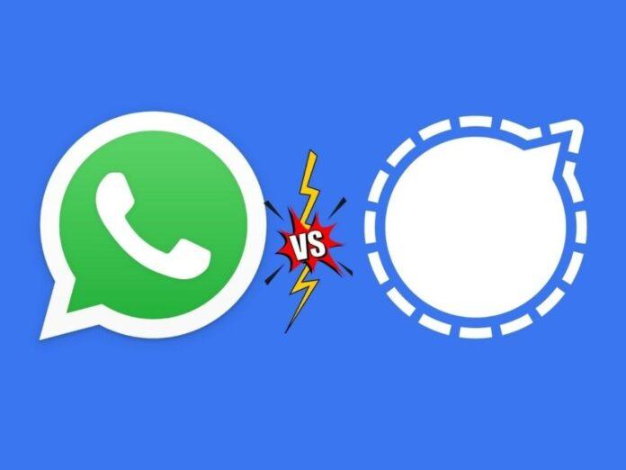whatsapp vs signal application