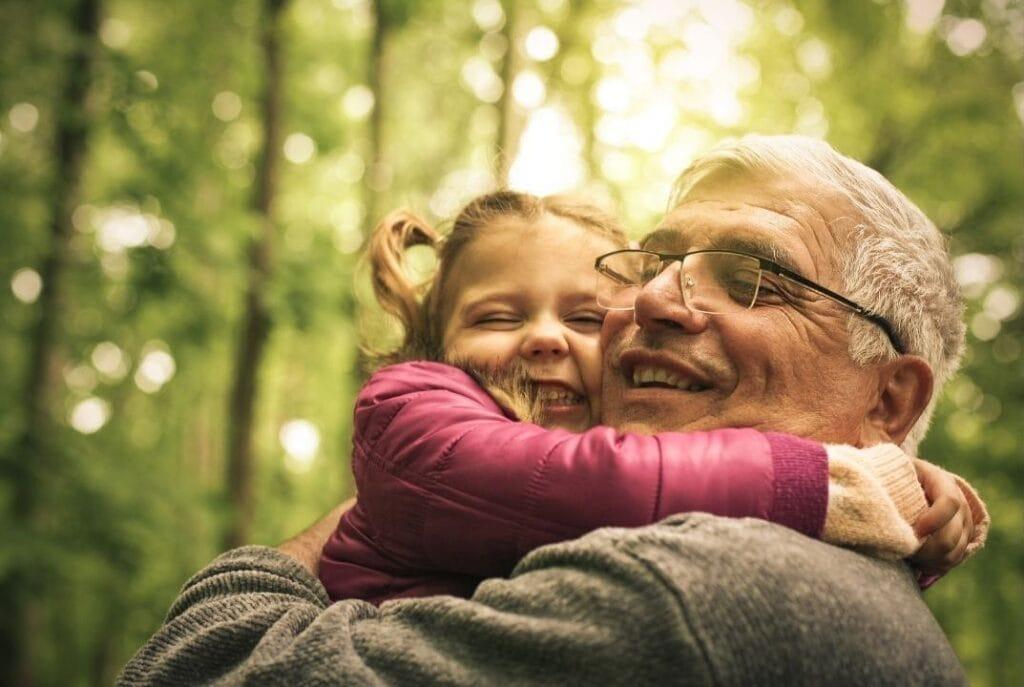 grandfather hug