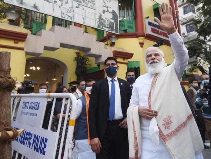 Prime Minister Narendra Modi's Dandi March green flag